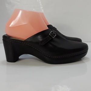 Womens Black Leather Cole Haan Clogs 8.5